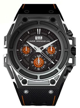 The SpidoSpeed Black Orange watch Case and Dial