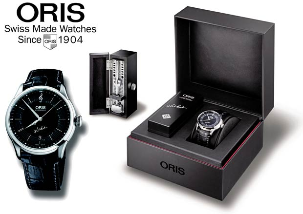 The Oris Chet Baker Limited Edition watch with the bars from My Funny Valentine