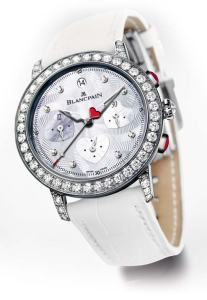Faithful to its annual rendezvous, Blancpain once again presents an exclusive creation for Valentine's Day, the Blancpain Saint-Valentin Chronograph 2012 diamond watch collection.