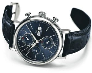 The IWC Schaffhausen Portofino Chronograph Edition Laureus Sport for Good Foundation.