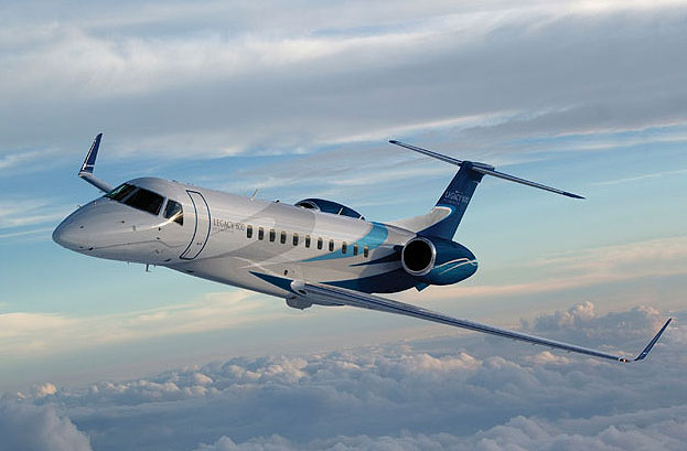 Embraer's large-sized Legacy 650 executive jet has been certified in India.