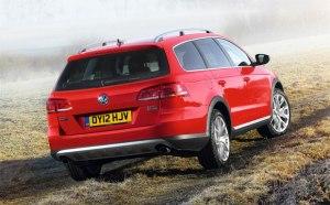 The new Volkswagen Passat Alltrack Estate with 4Motion four wheel drive.
