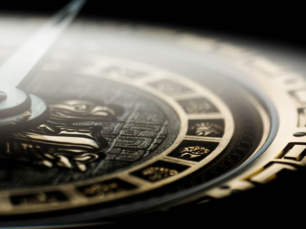 De Bethune presents a 12 piece edition tribute - The Ninth Mayan Underworld watch.