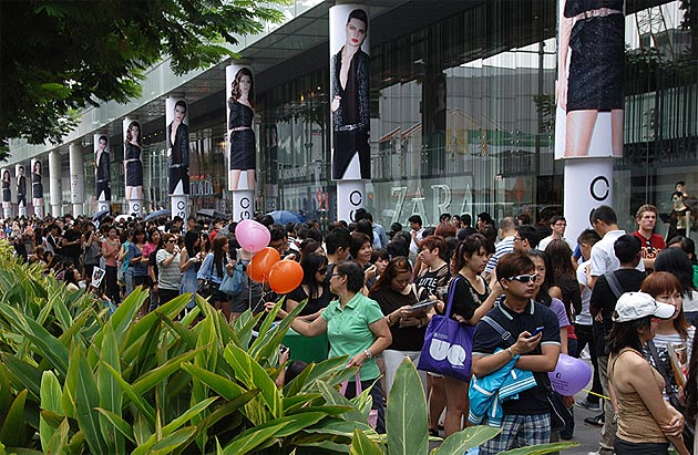 The opening of the HM Store in Orchard Road, Singapore - Copyright orchardroad.org