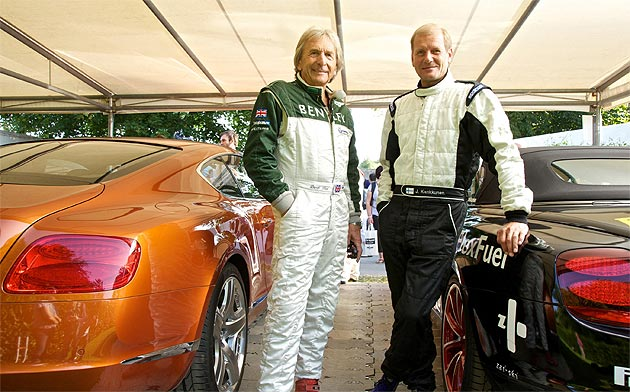 Derek Bell and Juha Kankkunen with Bentley at Goodwood Festival of Speed