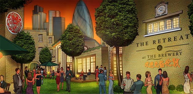 """The Brewery in London to Host """"The Retreat"""", a VIP Sanctuary During the 2012 Olympics."""