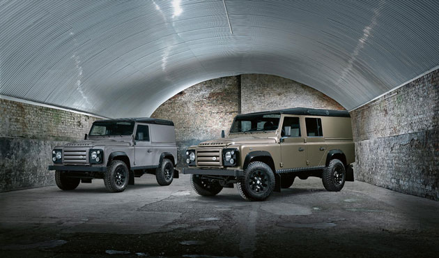 The Land Rover Defender XTech Special Edition available in Nara Bronze body colour.