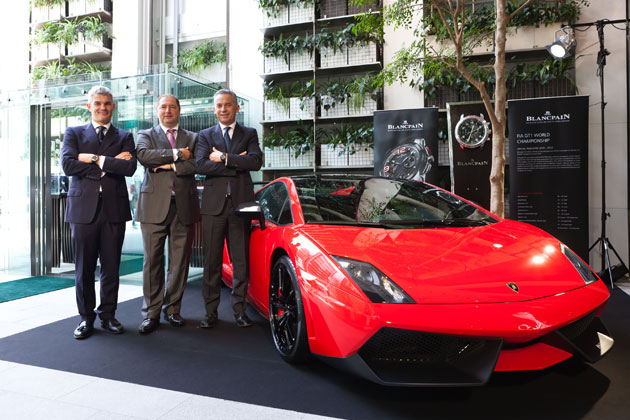 Blancpain and Automobili Lamborghini Japan held a luxurious event together to celebrate the Super Trofeo Asia.
