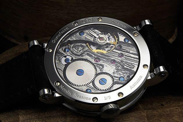 Gustafsson & Sjögren Watches (GoS) Damascus steel movement in Nordic Seasons - Autumn 1/5