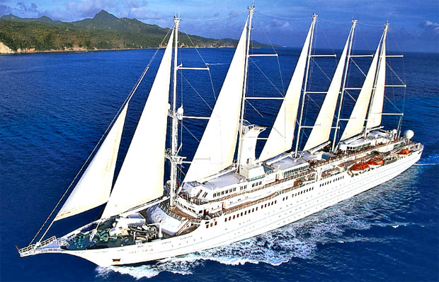 The 148-passenger Wind Star yacht is the first ship completed in Windstar Cruises' $18 million fleet-wide renovation