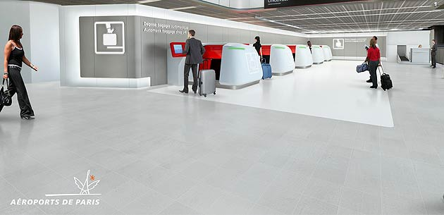 Aéroports de Paris makes its award winning automated baggage drop-off easier.