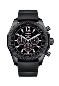 """Barnato. The name of the most famous among the """"Bentley Boys"""", the men engaged in a passionate pursuit of victories and accomplishments that included winning the Le Mans 24 Hours Race no less than five times between 1924 and 1930. Also the name of an exceptional chronograph combining superlative style with peerless performance. Breitling for Bentley now interprets this sporty model in a 1,000-piece limited edition entirely clothed in black – from the case made of a steel that is the color of night thanks to a highly resistant carbon-based treatment"""
