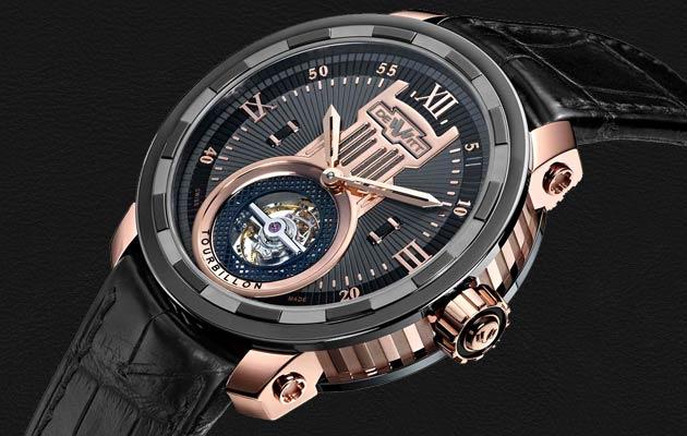 The Dewitt - Twenty-8-Eight Tourbillon wrist watch with a 43mm Rose Gold Case.