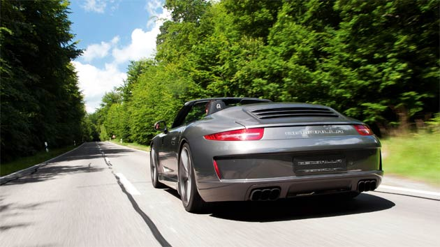 The Gemballa GT aerodynamic package is on sale now, starting at €19.860 (around £16,000), including paint and installation. Subject to specification, the cost of the standard Porsche 911 '991' Cabriolet launched at the beginning of this year, ranges between £79,947 and £92,127.