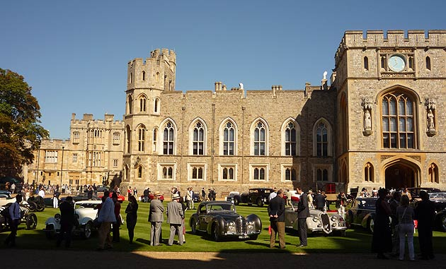 Set in the central quadrangle (The Upper Ward) of England's most romantic castle, a perfectly apt setting for admiring some of the globe's finest automotive architecture, the models on display spanned across two centuries