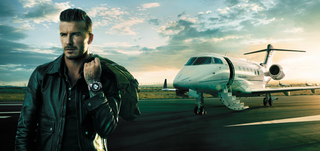 Breitling has chosen David Beckham as the face of its Transocean Chronograph Unitime worldtimer watch. The new campaign establishes a long-term partnership between the innovative and historic Swiss brand and one of the world's most celebrated icons.