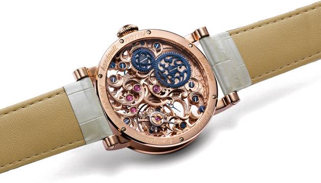 Skeletonized Watch Pearl Blossom