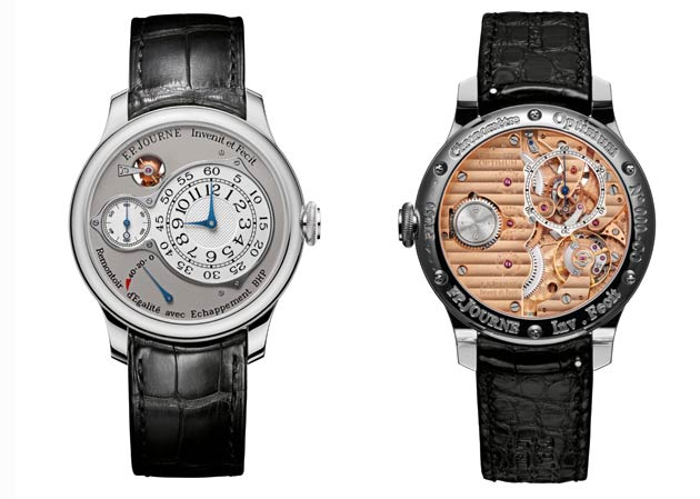 The new masterpiece of the Souveraine collection, the Chronomètre Optimum, joins the iconic timepieces of Haute Horlogerie.Combining a rich knowledge of the history of time with modern technologies and the example set by the great masters, the Chronomètre Optimum most certainly joins the great iconic timepieces of F.P.Journe Haute Horlogerie, in an ongoing quest for precision, innovation and excellence.