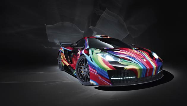 """Hamann, the specialists of unique super sports cars has unveiled the """"memoR"""", turning the two-seater McLaren MP4-12C mid-engined model into an exquisitely colourful piece of art, a conversion which will set you back €95,000 excluding tax."""