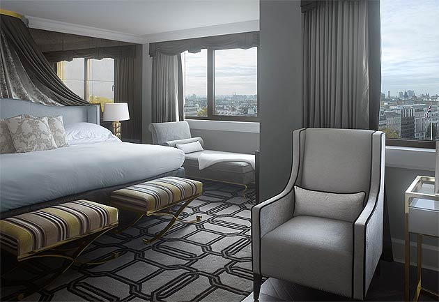 The Intercontinental Park Lane has just unveiled its new Royal Suite, celebrating the hotel's location at 145 Piccadilly – the Queen's former childhood residence.