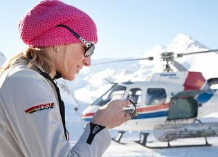 German Double Olympic and World skiing champion, Maria Höfl-Riesch, a Hublot ambassador since 2011.