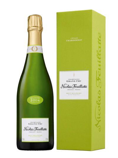 Champagne Nicolas Feuillatte Grand Cru Chardonnay Vintage 2004 bottle shot