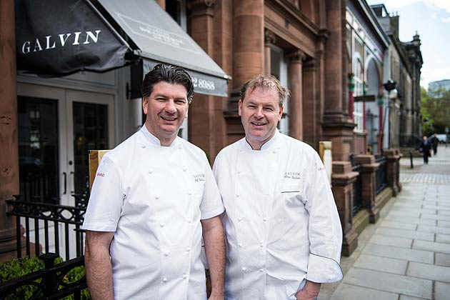 Michelin-starred chef brothers Chris and Jeff Galvin