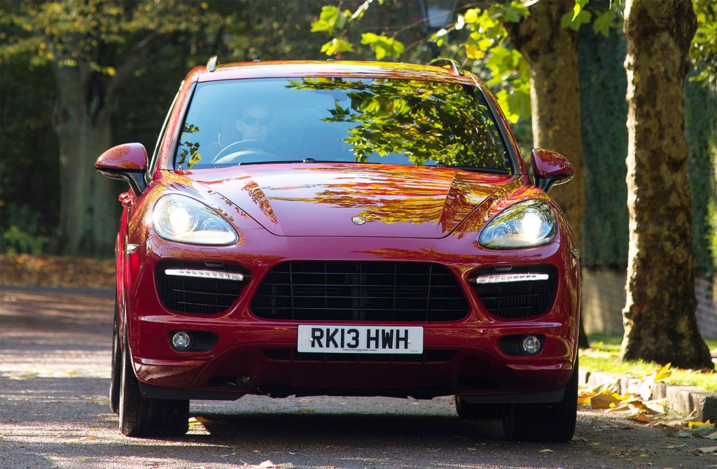 2014 Porsche Cayenne Turbo S in red