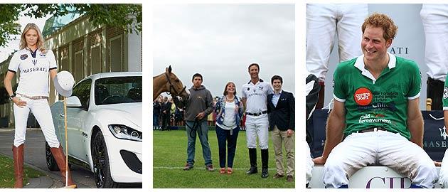 Maserati, La Martina and Princes William and Harry entertain at celebratory UK Polo match