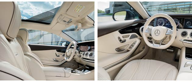 As expected, the inside of the S65 AMG Coupe is a luxurious world made from some exquisite materials. Inside the interior is dominated by the sports seats.