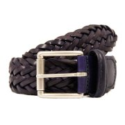 Anderson's Purple Leather Woven Belt