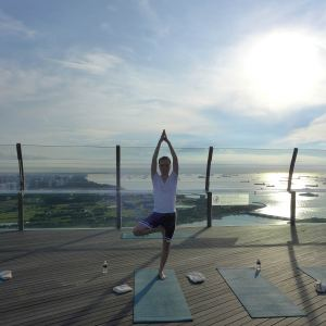 Sunrise Yoga at Marina Bay Sands Hotel