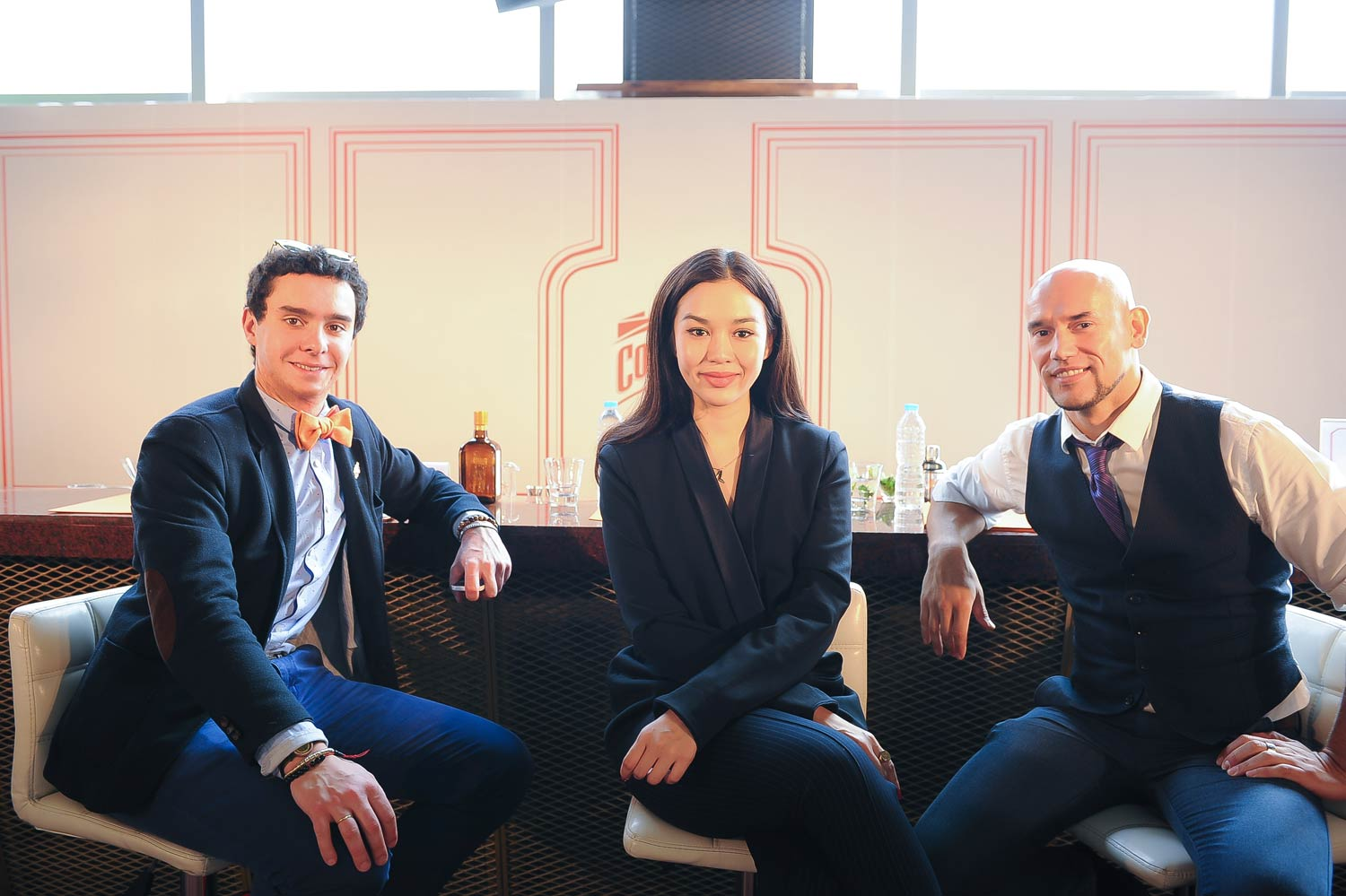 The 3 judges for the La Maison Cointreau Regional Finals (L-to-R) Alfred Cointreau, Duang Poshnayonda and Joseph Boroski