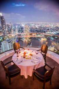 Dining at the Tower Club at lebua
