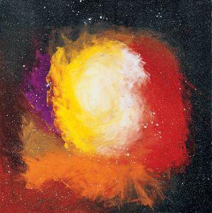'My Father, My Mother' by Ottavio Fabbri. 1999 (200cm x 200cm) Acrylic on Canvas