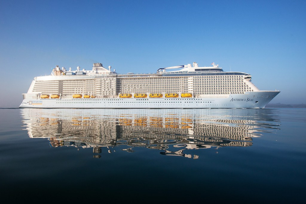 We join the Royal Caribbean Anthem of the Seas for its inaugural sailing