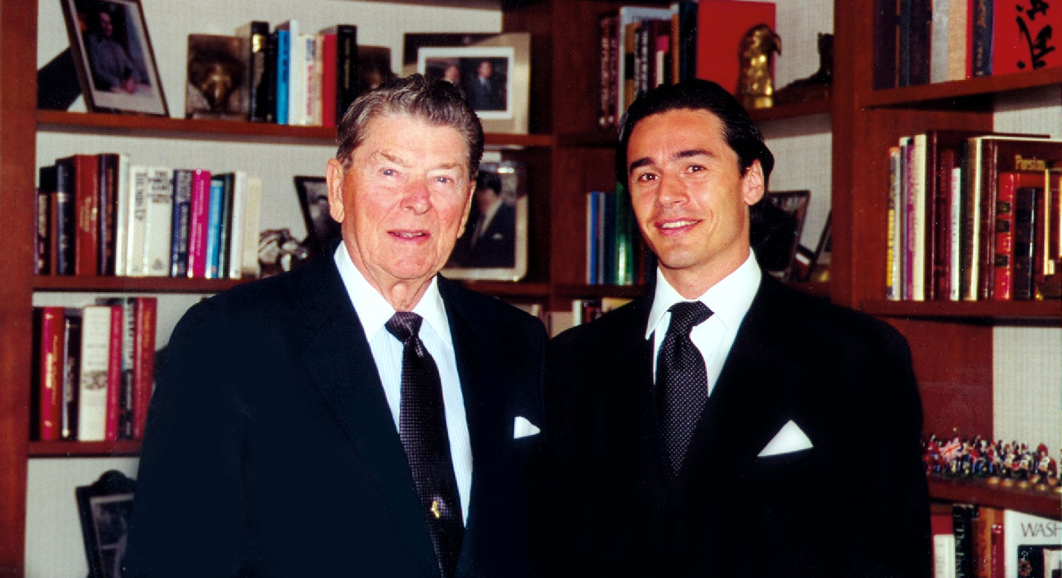 Danny Wise and President Ronald Reagan