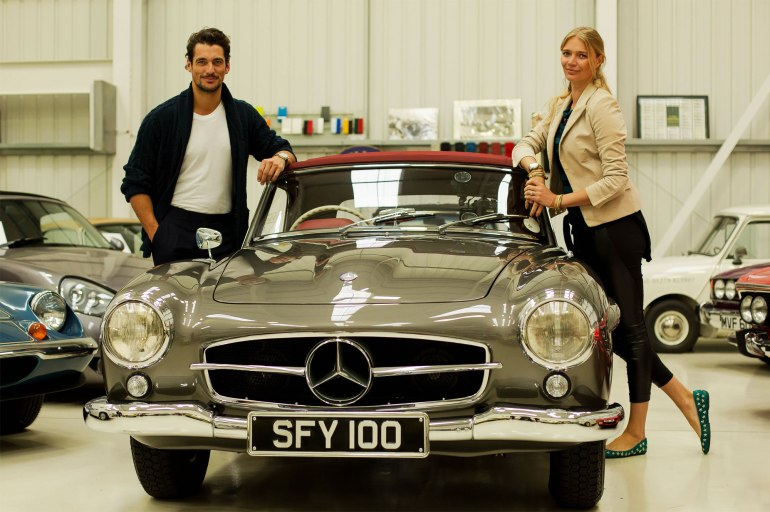 David Gandy and Jodie Kidd at The Classic Car Show
