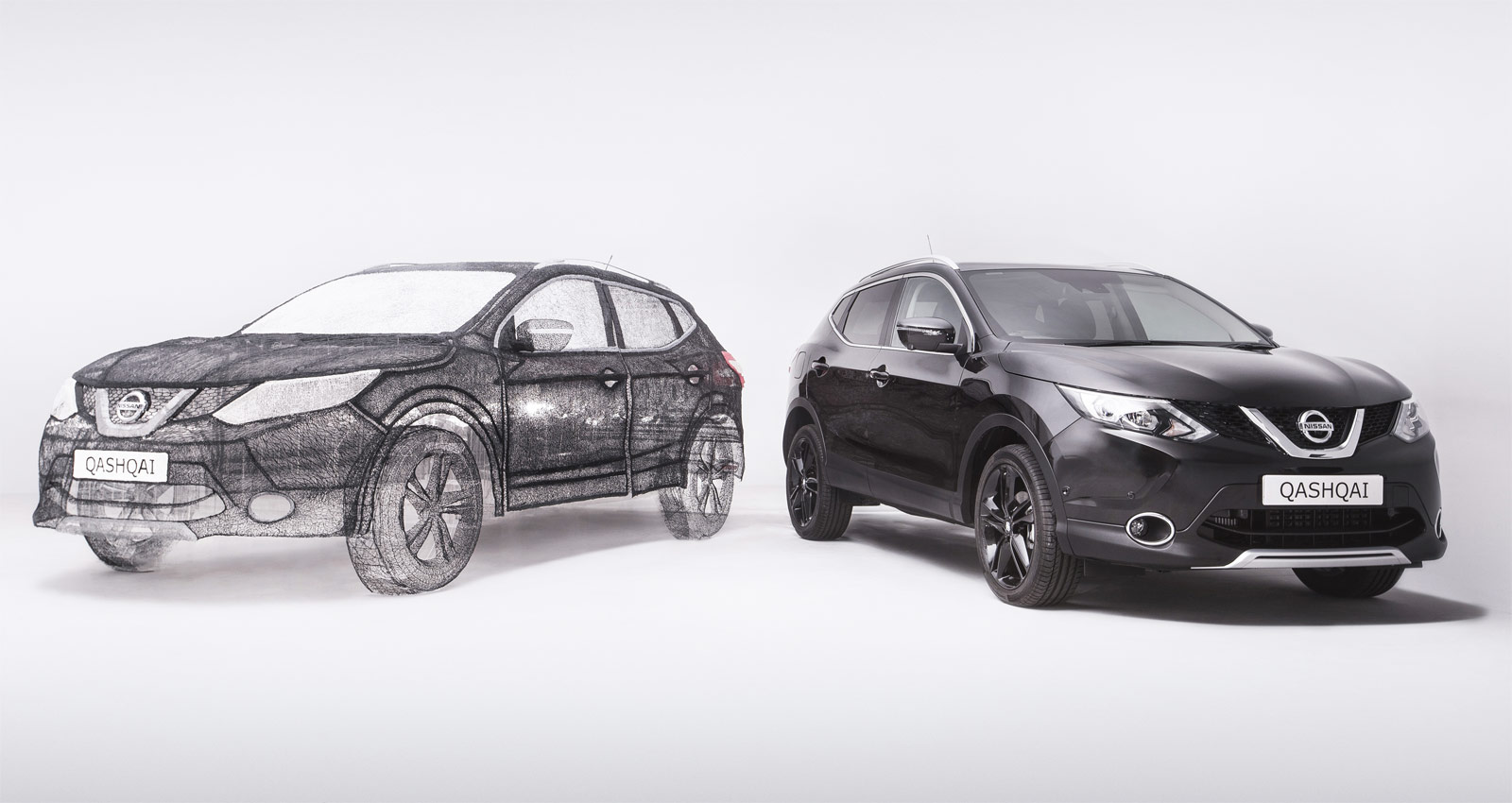 Nissan Draws Full-Sized Qashqai Black Edition Using 3Doodler 3D Pen 7