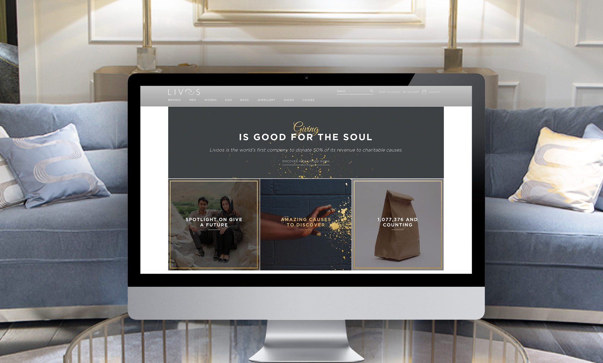 Livoos, The High-End Shopping Site Where Giving Is The Greatest Luxury