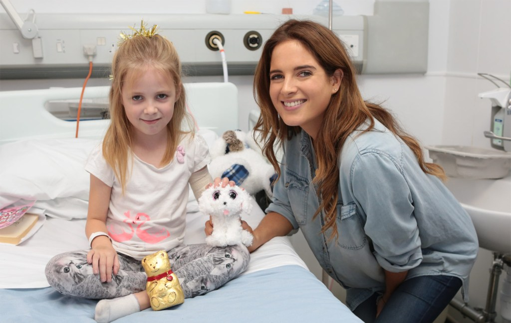 Made in Chelsea's Binky Felstead Visits Young Patients At Royal Brompton Hospital