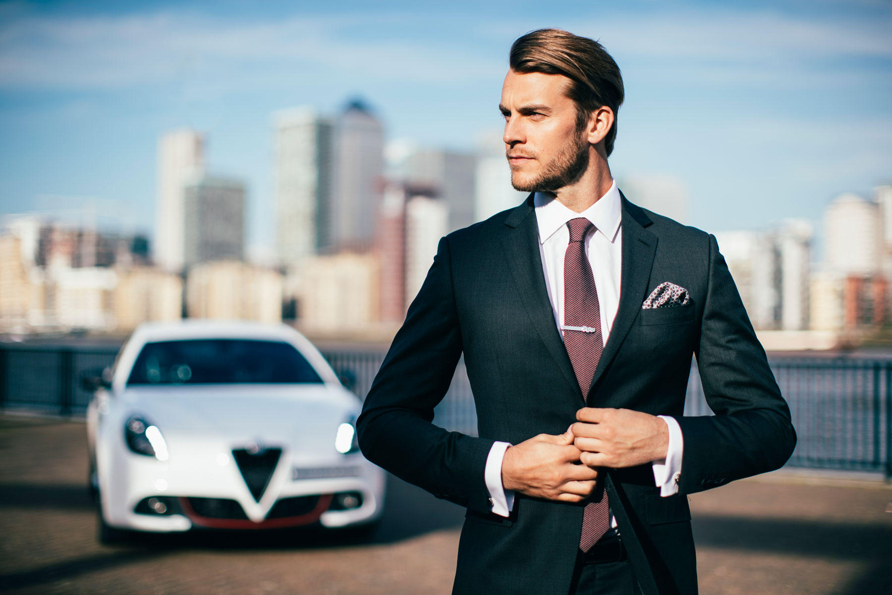Alfa Romeo Turns on the Style with British tailor Hawes & Curtis 5