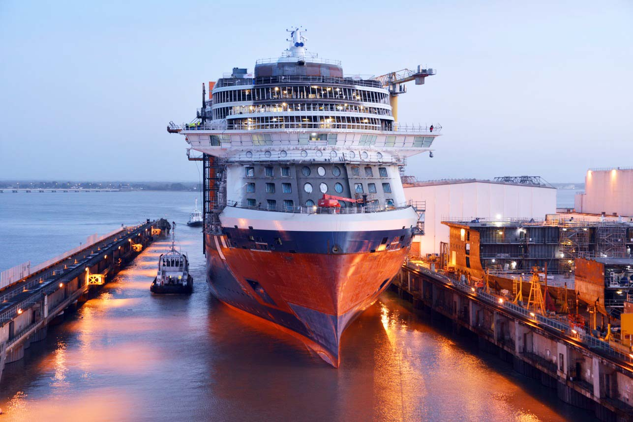 Celebrity Edge Makes Her First Journey as She Sails from Dry Dock