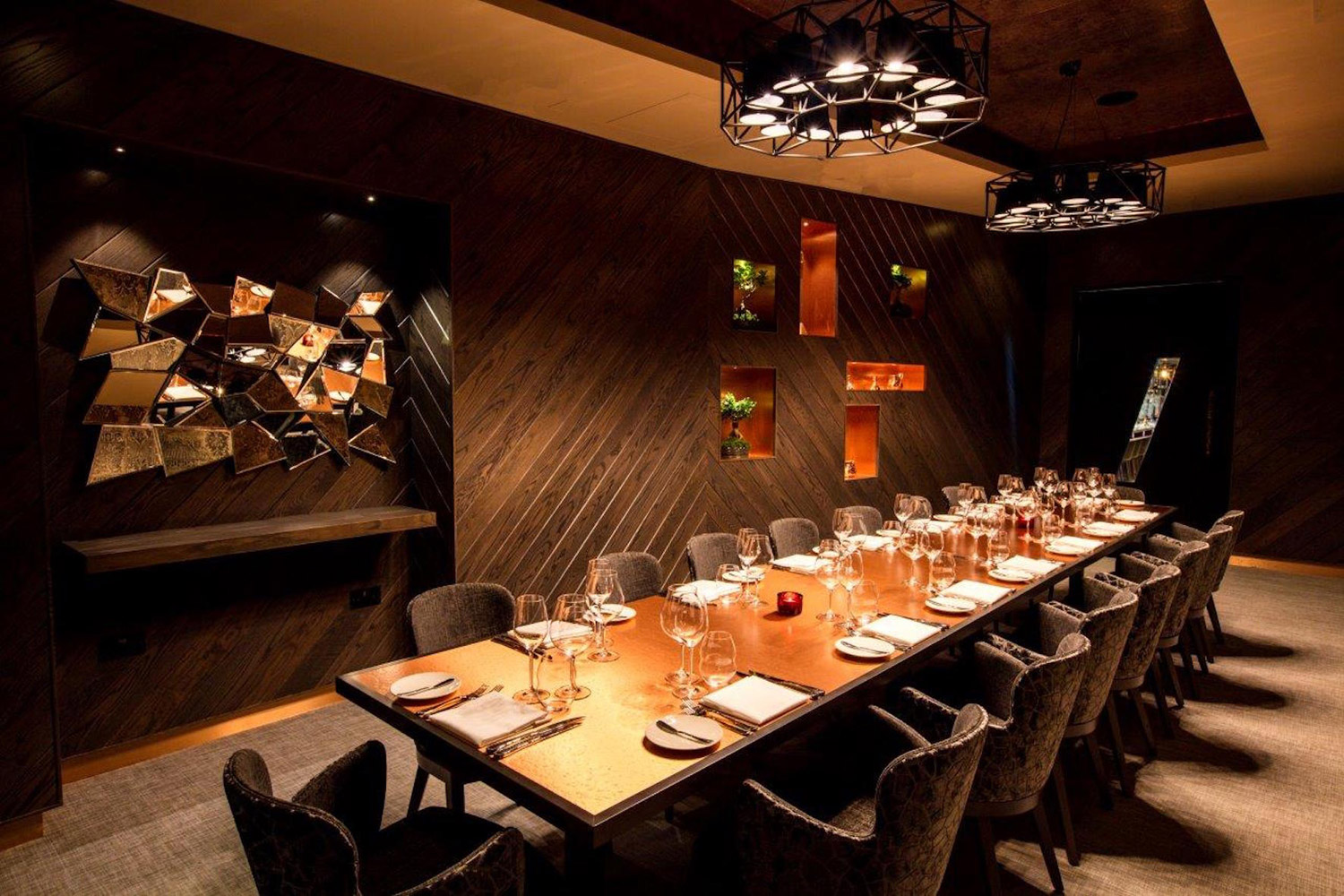 M Raw Bar Private Dining Room in London