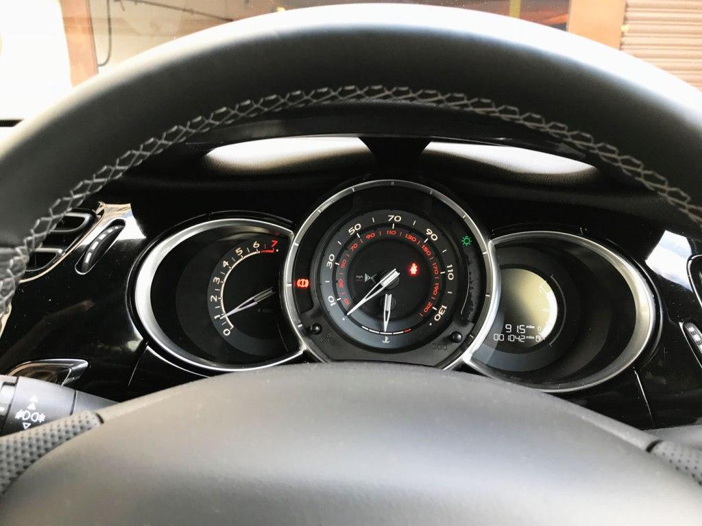 The gloss black dashboard