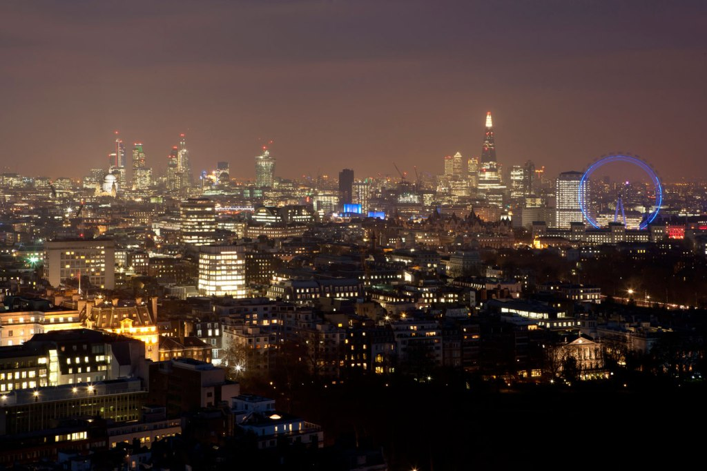 The views from the London Hilton on Park Lane