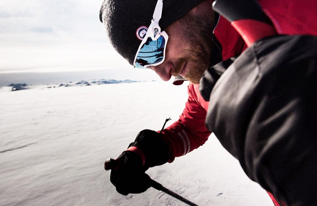 Ben Saunders, the global brand ambassador for Land Rover and Canada Goose