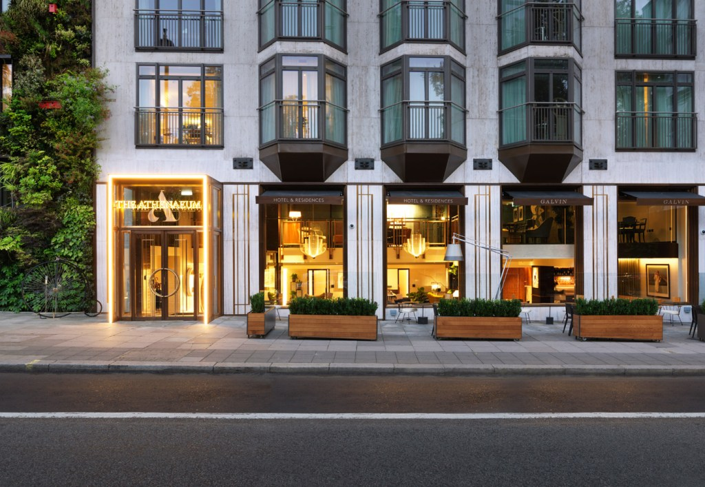 The exterior of the Athenaeum Hotel.