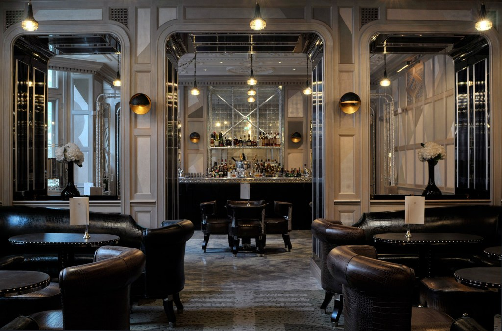 The bar at the Connaught Hotel in Mayfair, London.