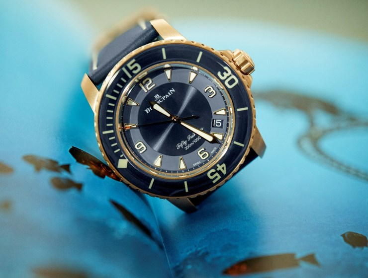 Blancpain's Fifty Fathoms Gets Stylish New Blue Ceramic Face